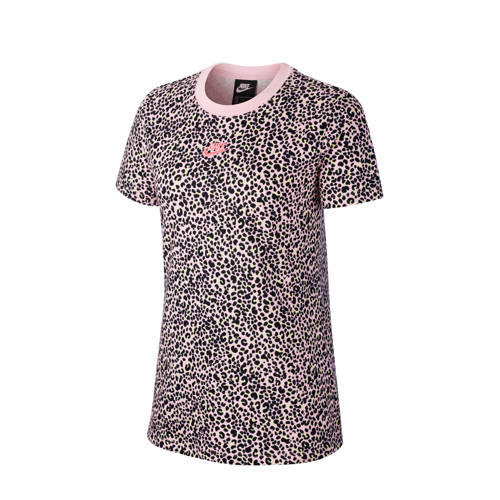 Nike T-shirt panterprint roze