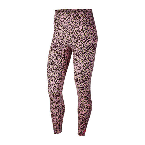 Nike legging panterprint roze
