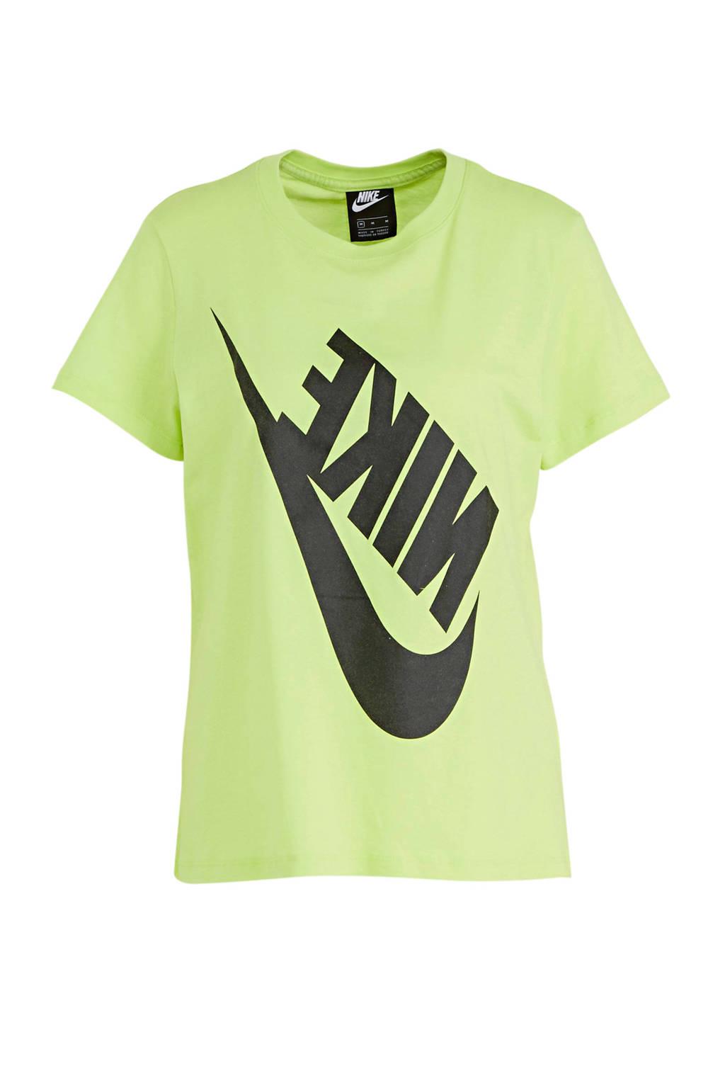Nike T-shirt limegroen/zwart, Limegroen/zwart