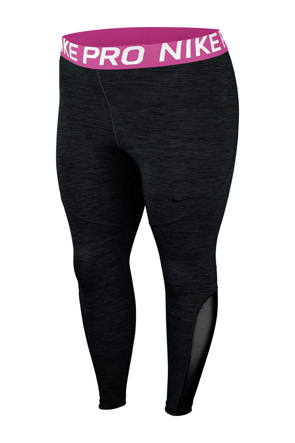 Nike Plus Size sportbroek zwart, Zwart/fuchsia