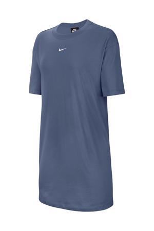 T-shirt jurk donkerblauw