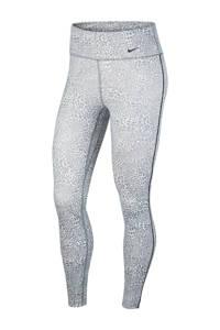 Nike 7/8 sportbroek lichtgrijs, Lichtgrijs/wit