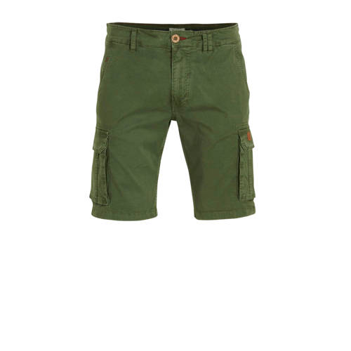 Blend regular fit jeans short donkergroen