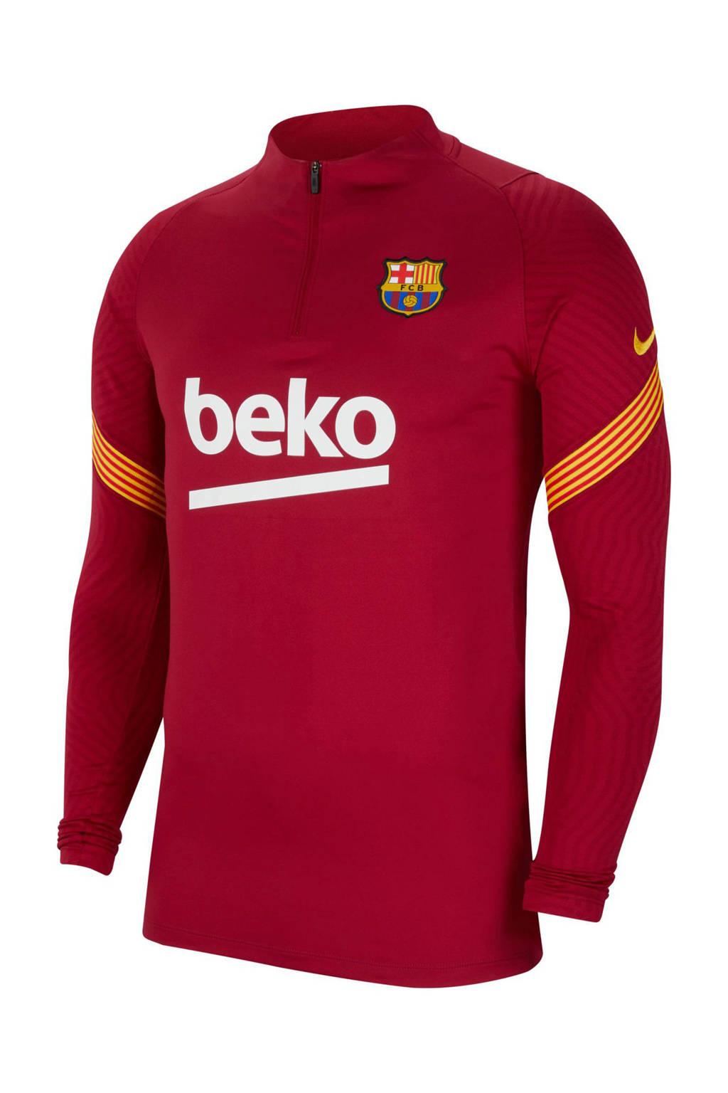 Nike Senior FC Barcelona voetbalshirt, Rood