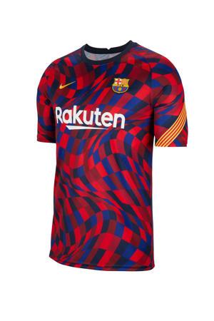 Senior FC Barcelona T-shirt rood/donkerblauw