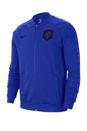 Senior Nederland voetbalvest blauw