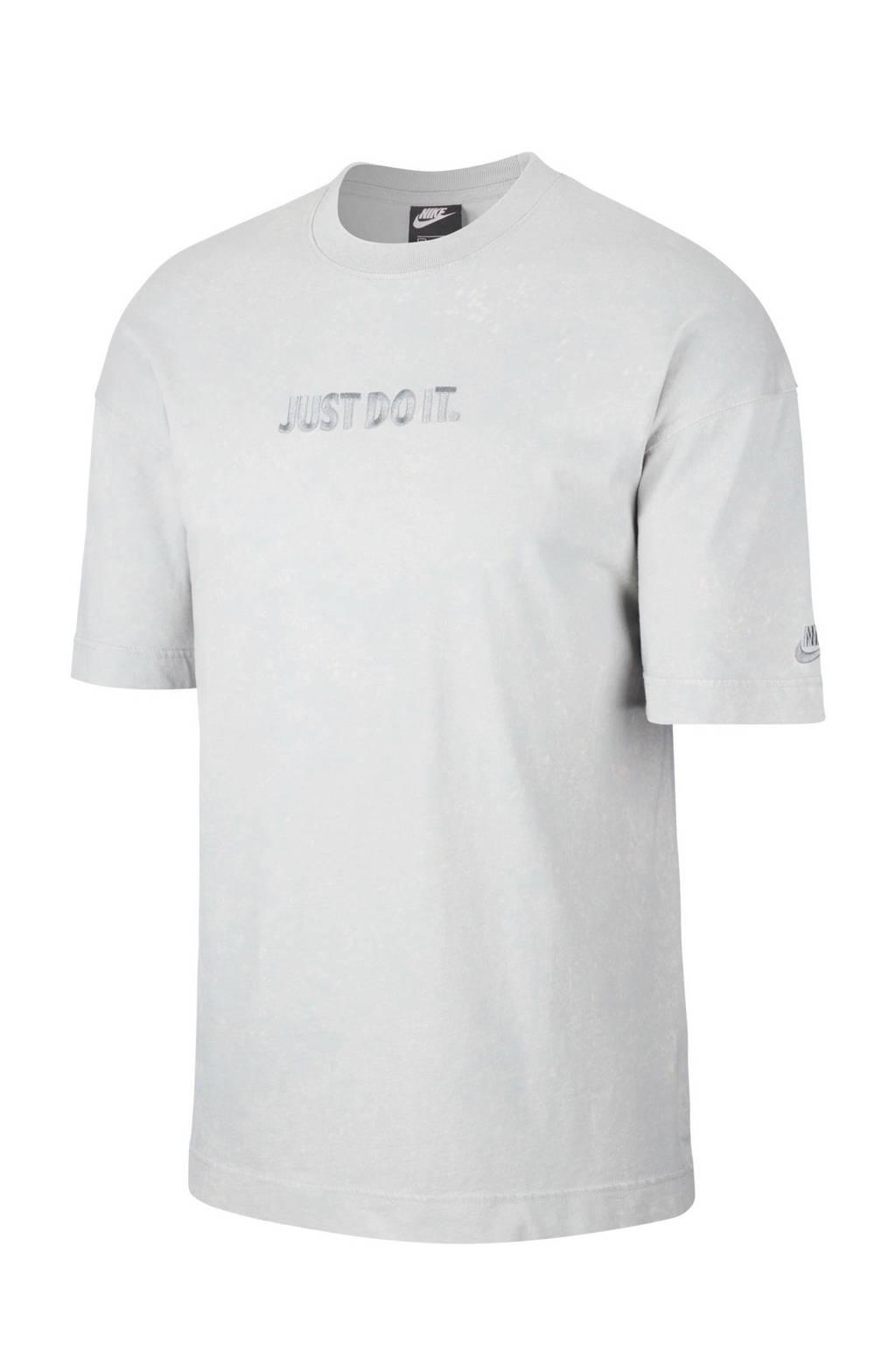 Nike   T-shirt lichtgrijs, Lichtgrijs