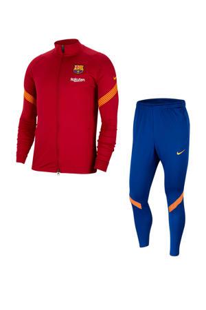 Senior FC Barcelona trainingspak rood/donkerblauw