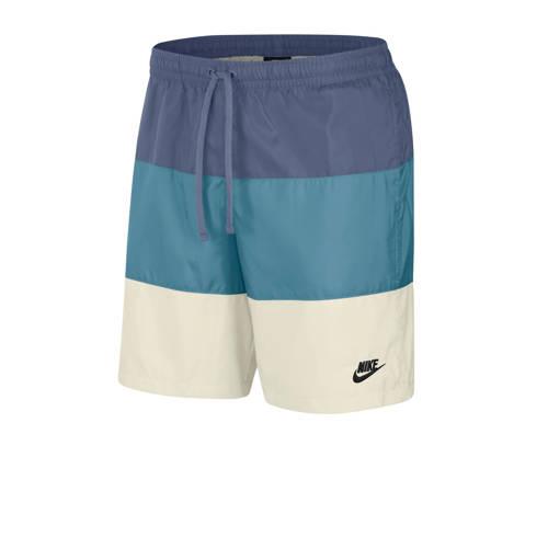 Nike short blauw/wit