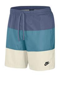 Nike short blauw/wit, Blauw/wit