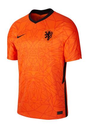 Senior Nederland voetbalshirt oranje/zwart