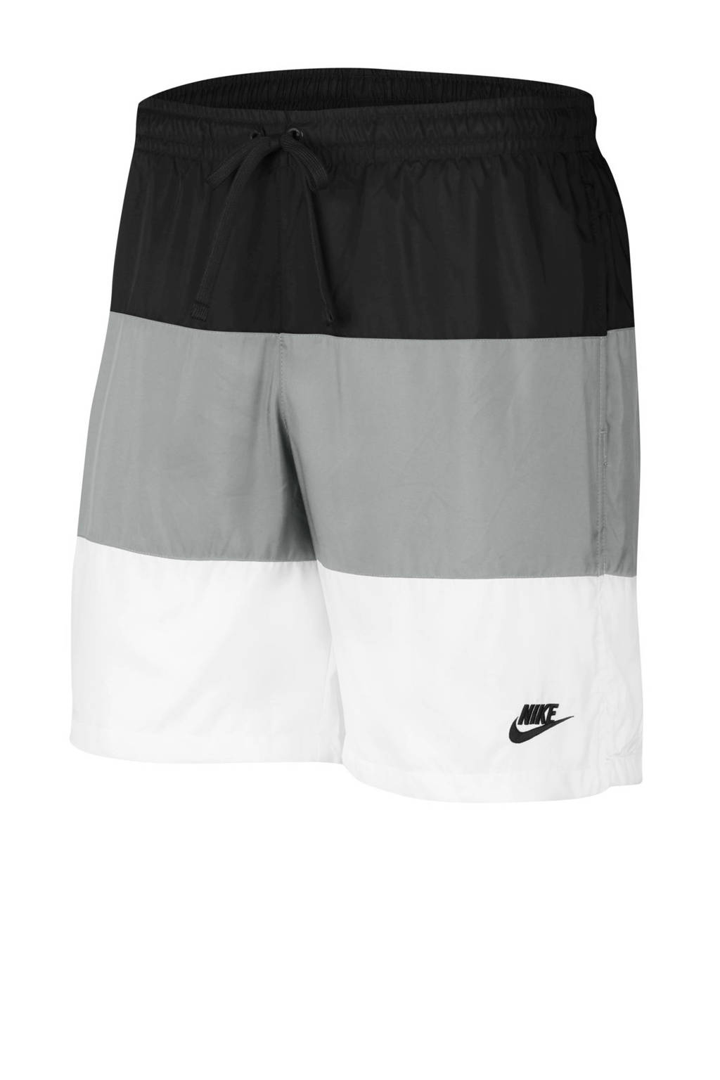 Nike short zwart/grijs/wit, Zwart/grijs/wit