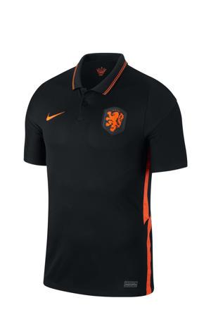 Senior Nederland voetbalpolo zwart/oranje