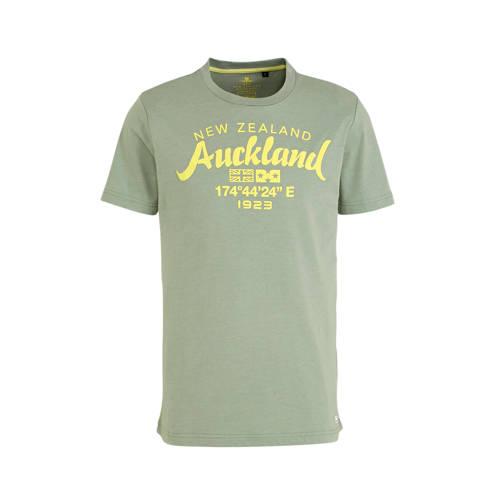 New Zealand Auckland T-shirt met printopdruk donke