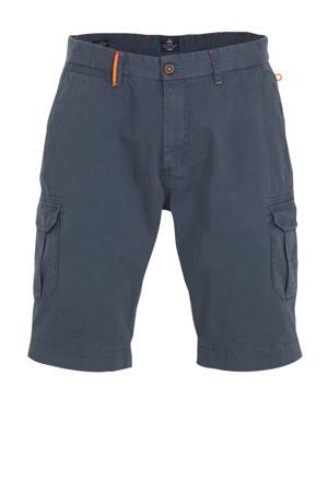 regular fit cargo bermuda grijsblauw