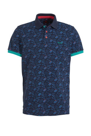 regular fit polo Wairoa met all over print new navy