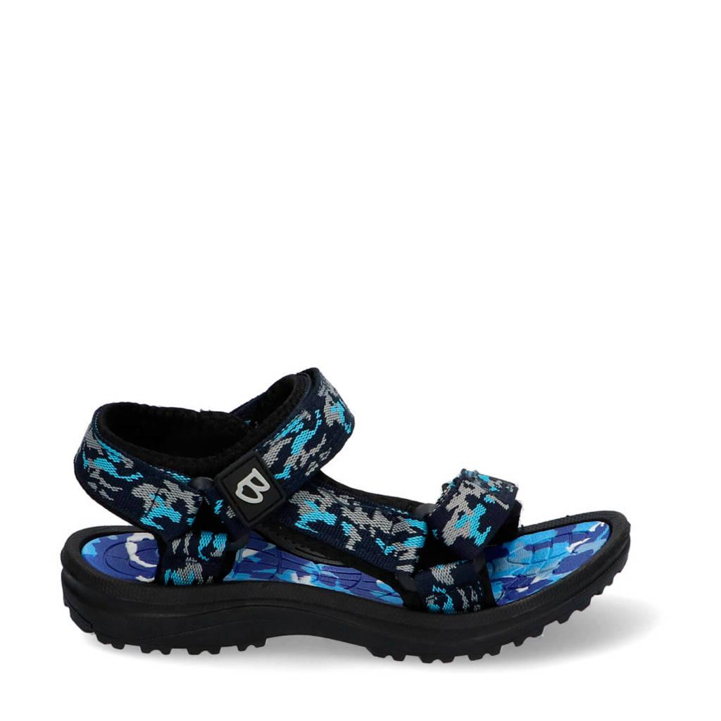 Braqeez Sky Sport  sandalen camouflage blauw, Blauw
