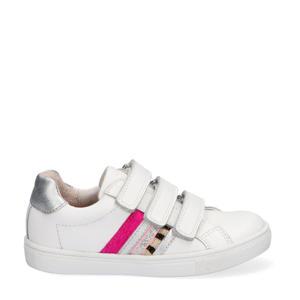 Lotte Louwies  leren sneakers wit/roze