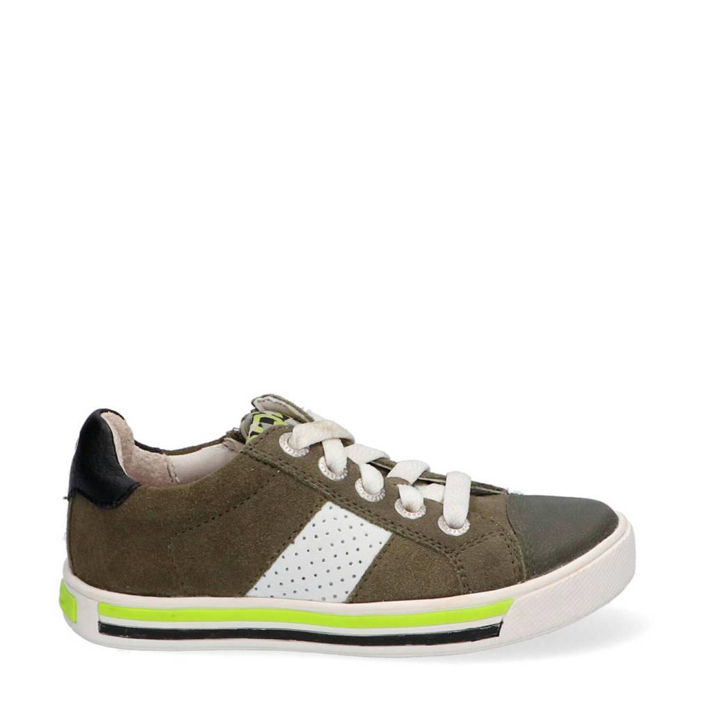 Braqeez Dicky Day  suède sneakers groen, Groen