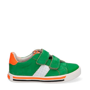 Dani Day  nubuck sneakers groen/oranje