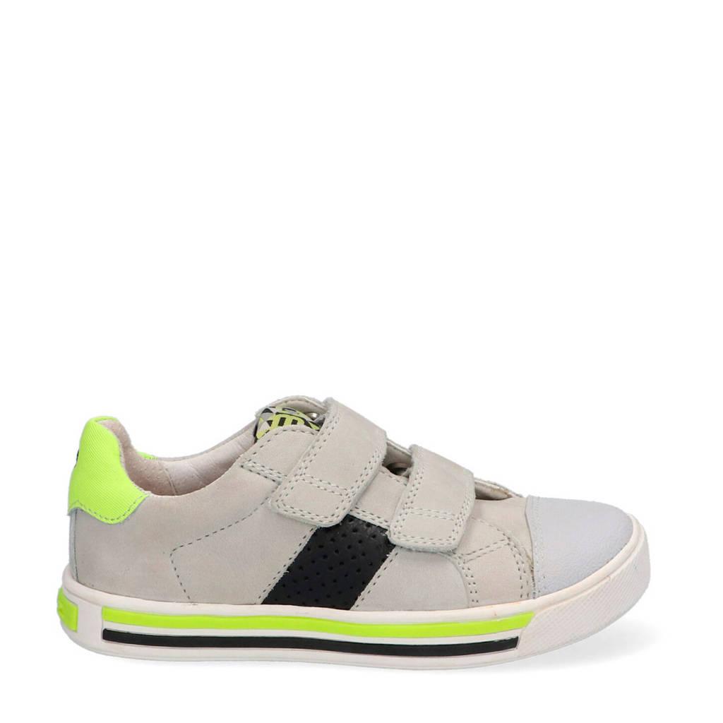 Braqeez Dani Day  nubuck sneakers grijs/geel, Grijs/geel
