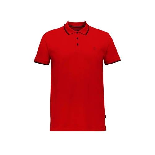 ESPRIT Men Casual slim fit polo rood