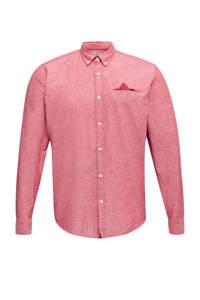 ESPRIT Men Casual regular fit overhemd rood, Rood