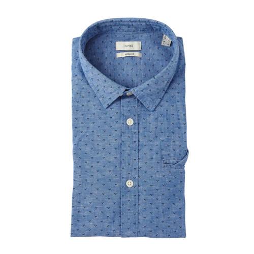 ESPRIT Men Casual slim fit overhemd met stippen bl