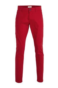 ESPRIT Men Casual slim fit chino rood, Rood