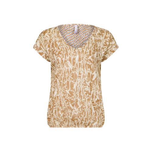 Miss Etam Regulier T-shirt met all over print brui