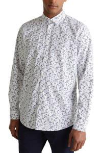 ESPRIT Men Casual overhemd met all over print wit, Wit