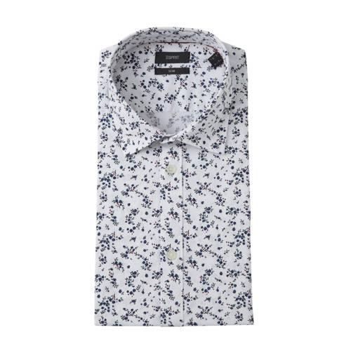 ESPRIT Men Casual overhemd met all over print wit