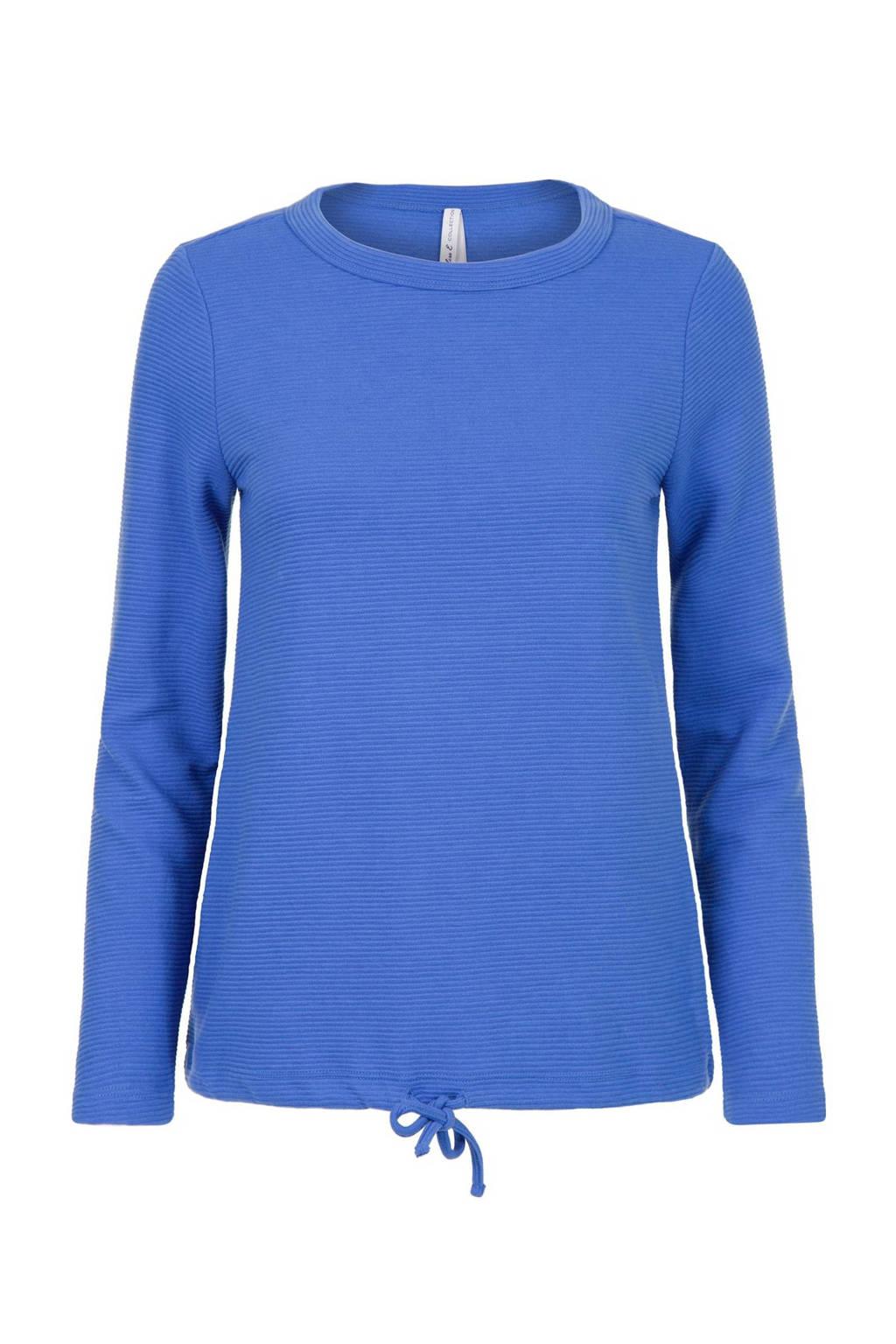 Miss Etam Regulier trui blauw, Blauw