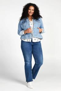 Miss Etam Plus gebloemde blouse ecru/multi, Ecru/multi
