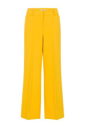 straight fit broek geel