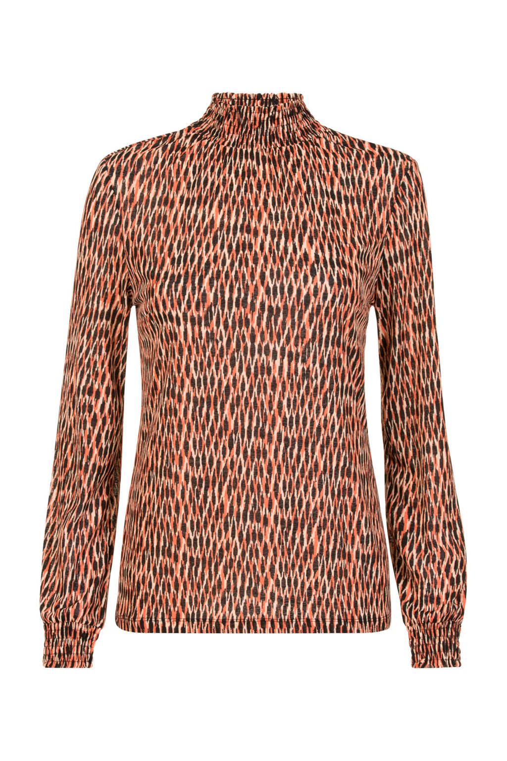 Miss Etam Regulier T-shirt met all over print rood, Rood