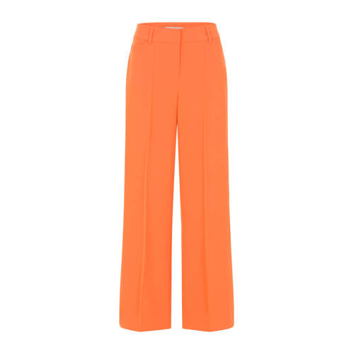 PROMISS high waist straight fit broek koraal