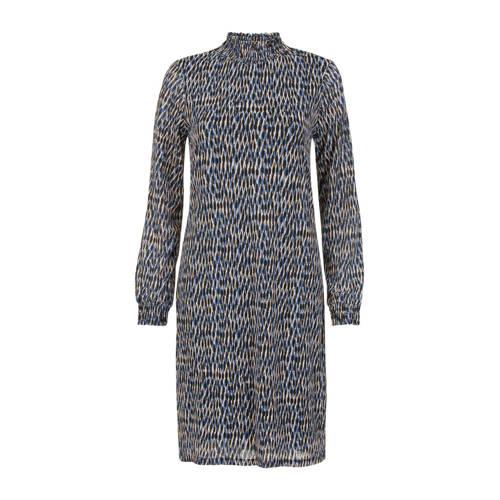 Miss Etam Regulier jersey jurk met all over print blauw