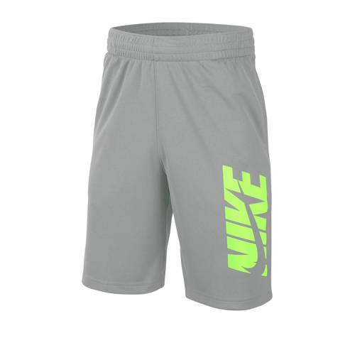 Nike short grijs/limegroen