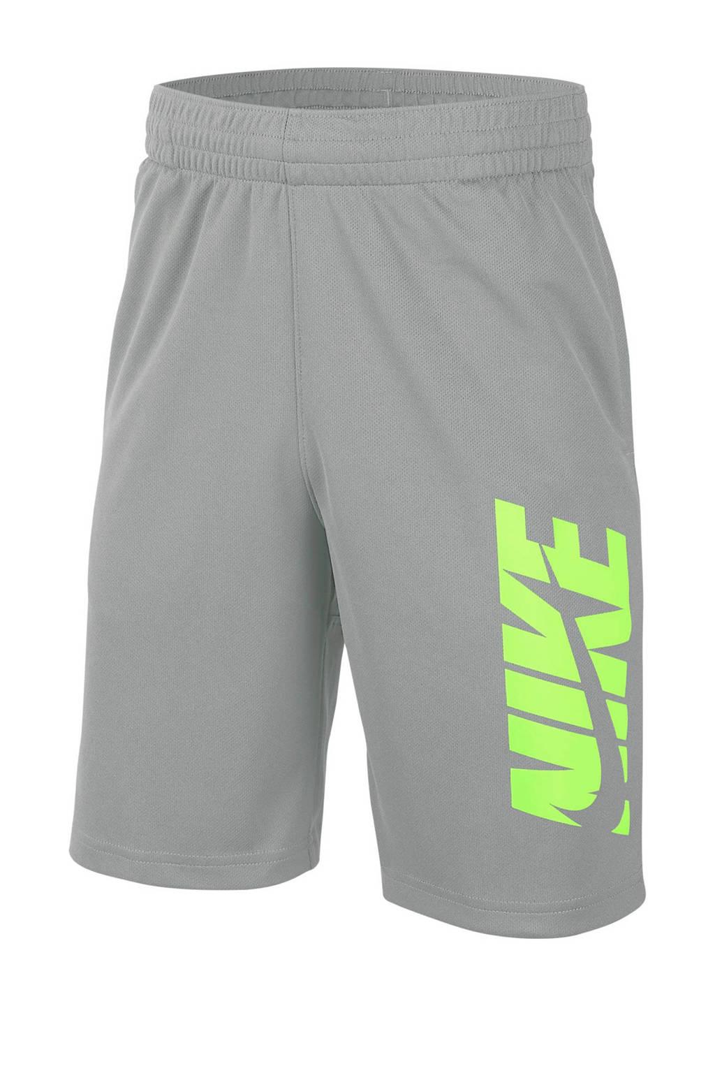 Nike   short grijs/limegroen, Grijs/limegroen