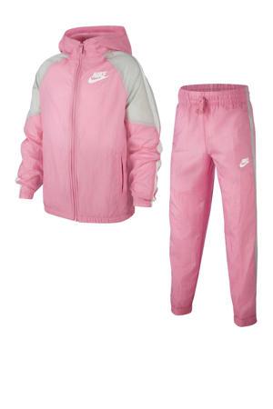 trainingspak roze/lichtgrijs