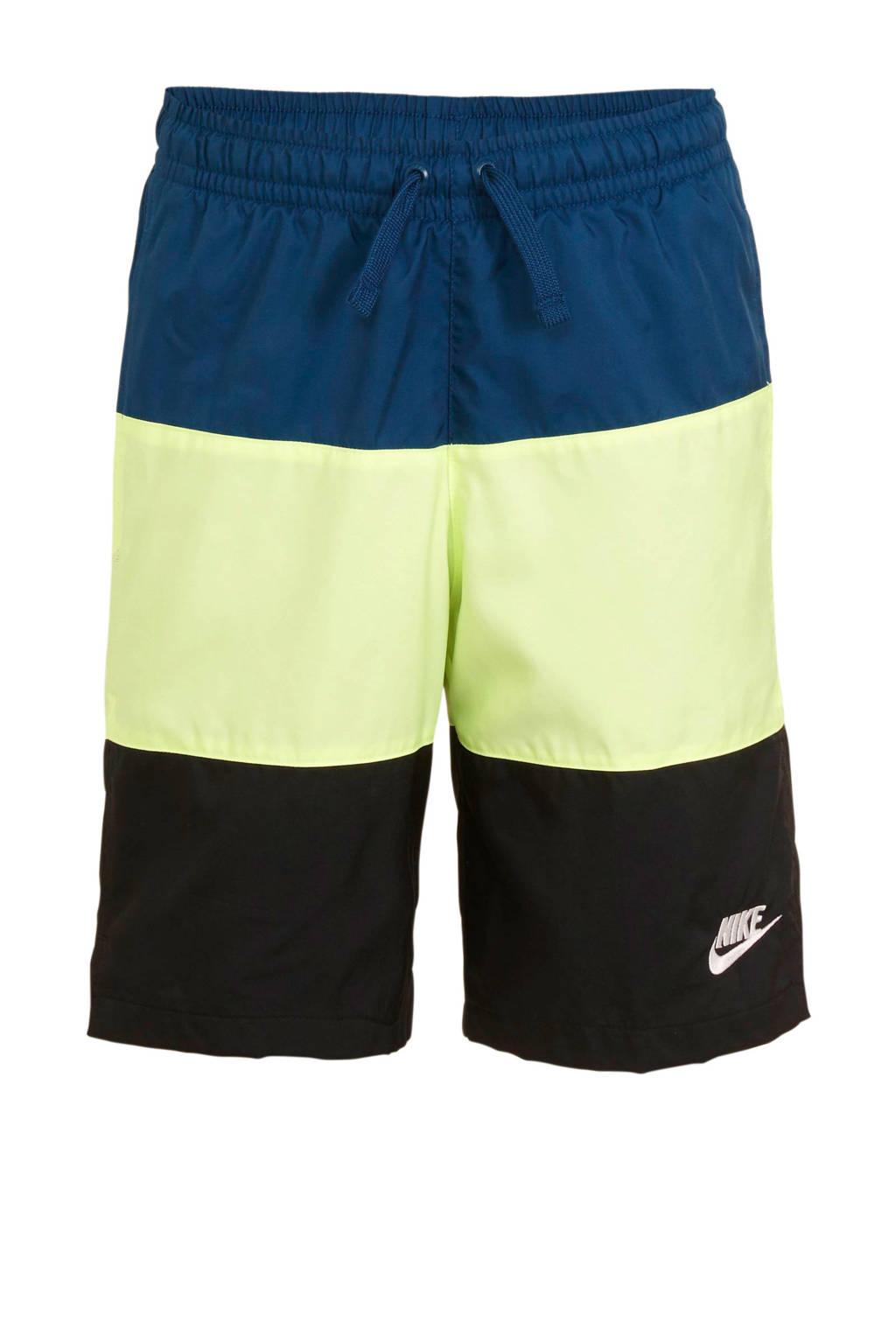 Nike   short blauw/groen/zwart, Blauw/groen/zwart