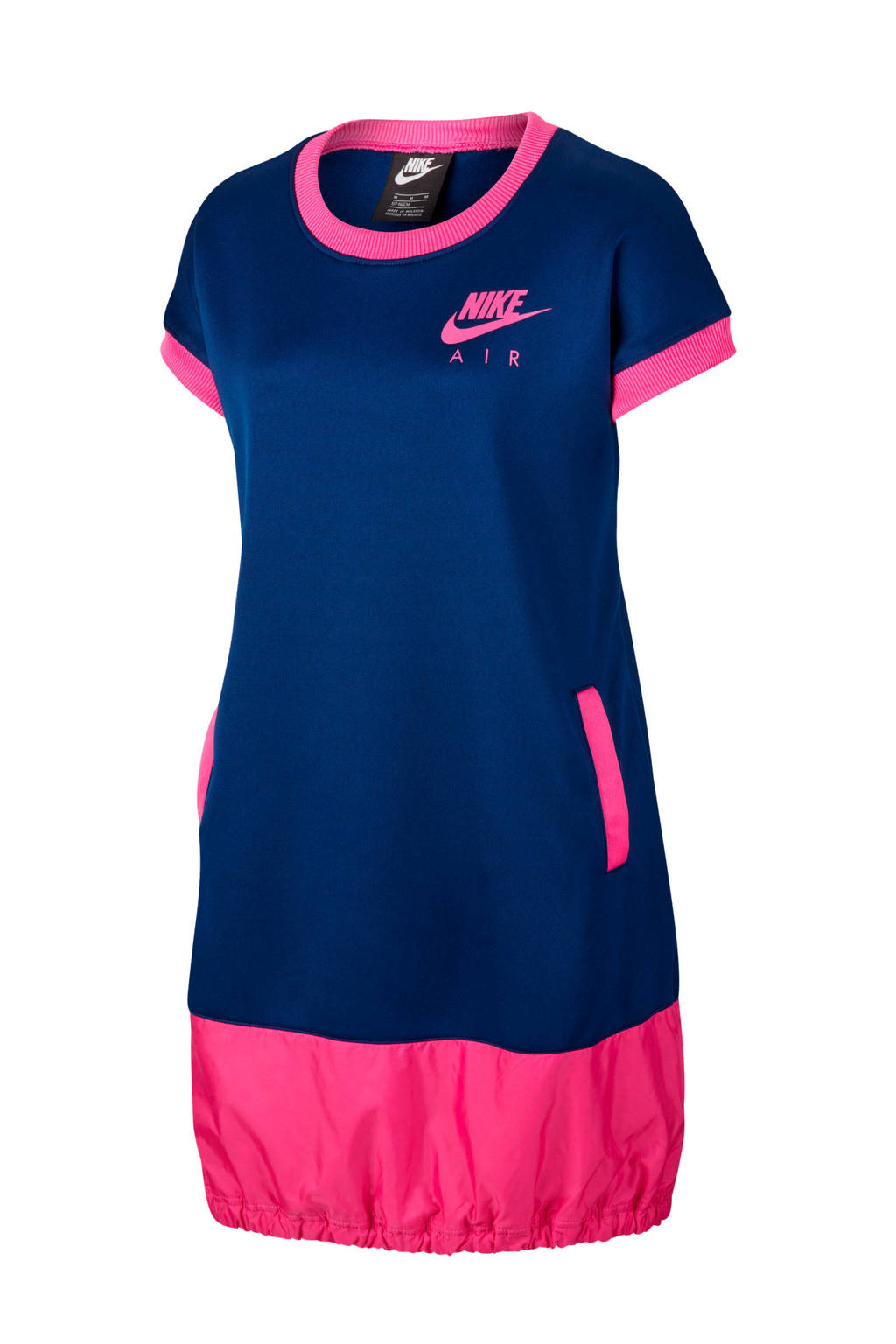 Nike Air T-shirt jurk donkerblauw/roze, Donkerblauw/roze