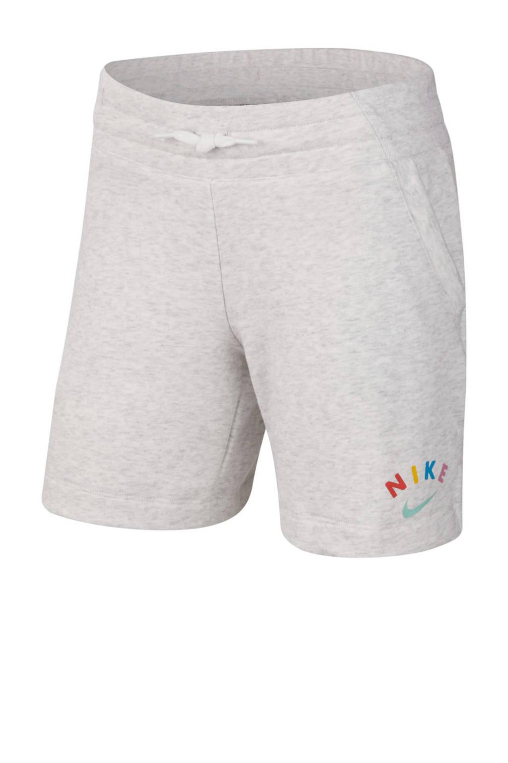 Nike short grijs melange, Grijs melange