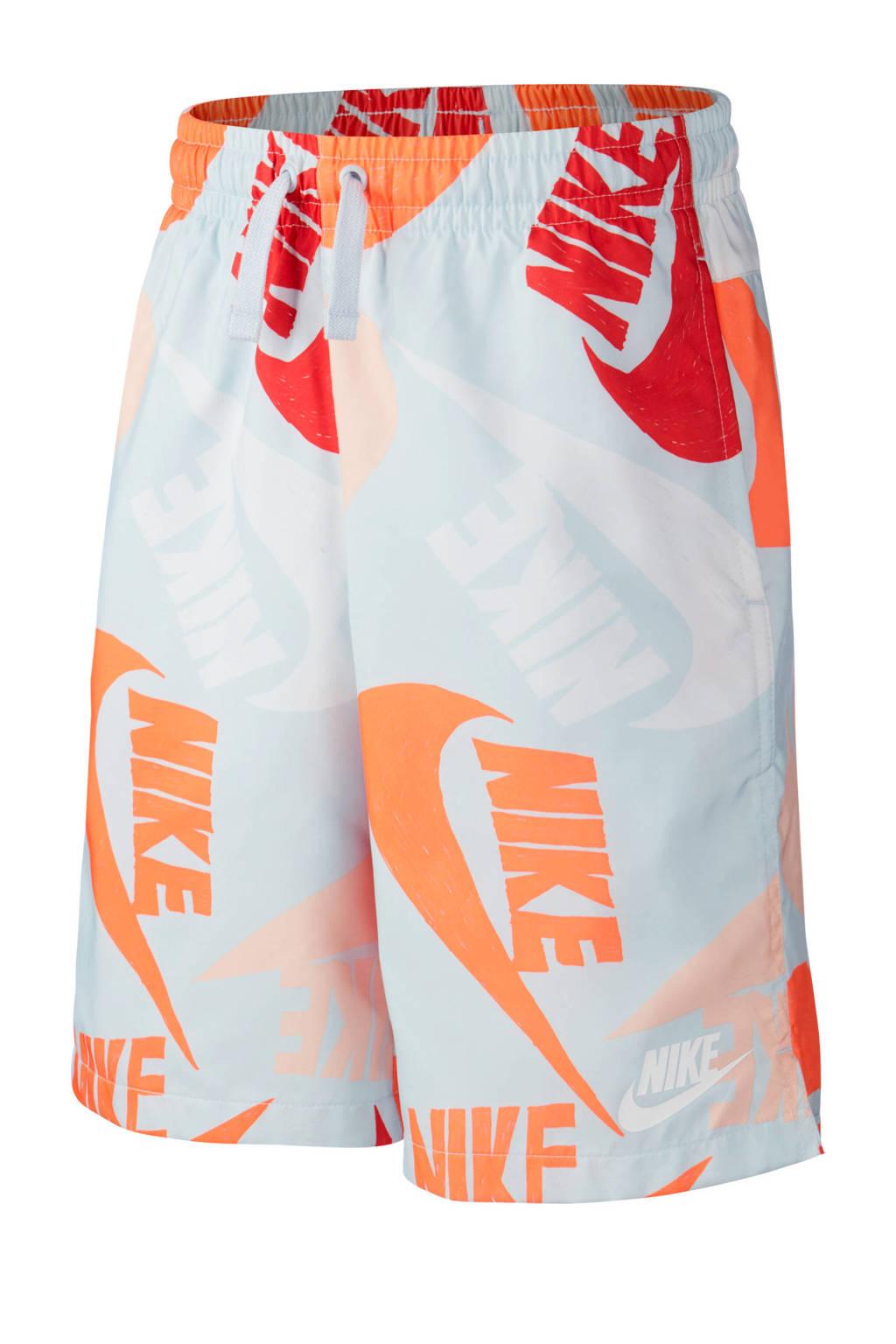 Nike   short wit/oranje/rood