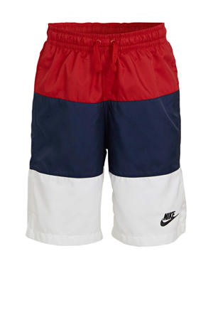 short rood/donkerblauw/wit