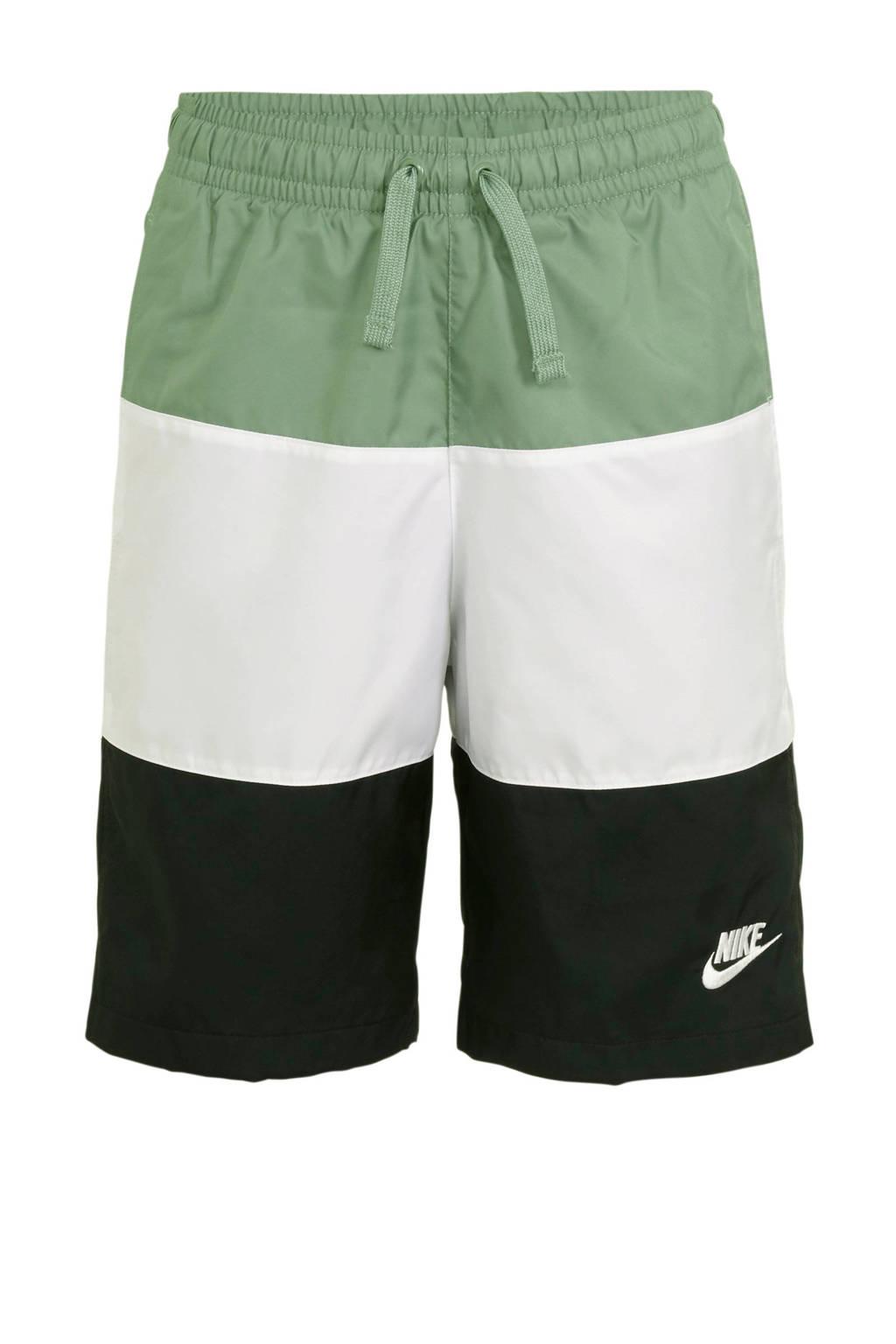 Nike short groen/wit/zwart, Groen/wit/zwart