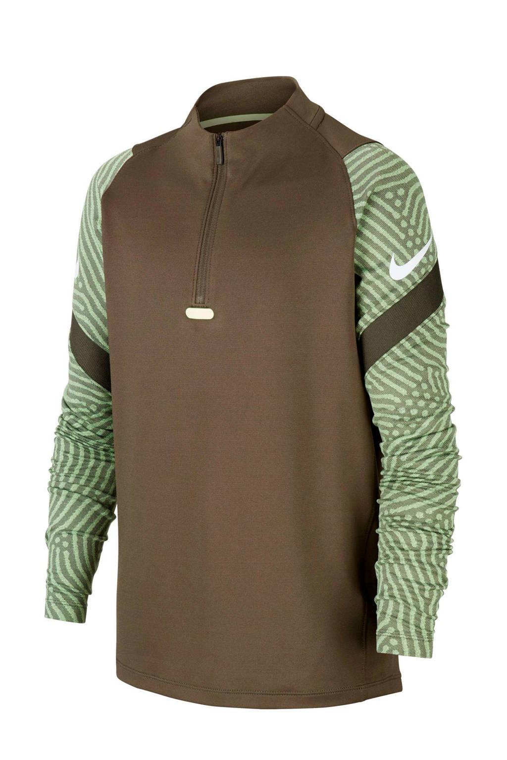 Nike   voetbalshirt bruin/groen, Bruin/groen