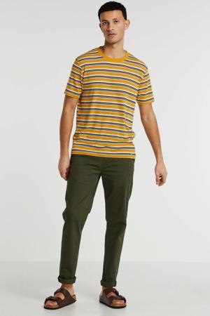 gestreept T-shirt geel