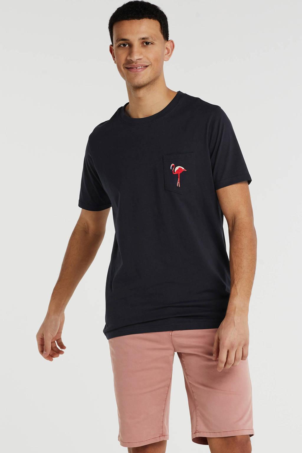 Anerkjendt T-shirt met logo zwart, Zwart